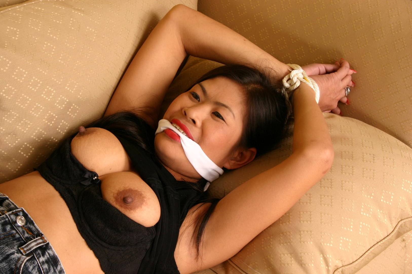 Can help asian bondage gagged