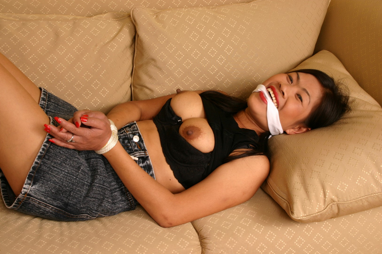 Something is. asian bondage gagged especial. something